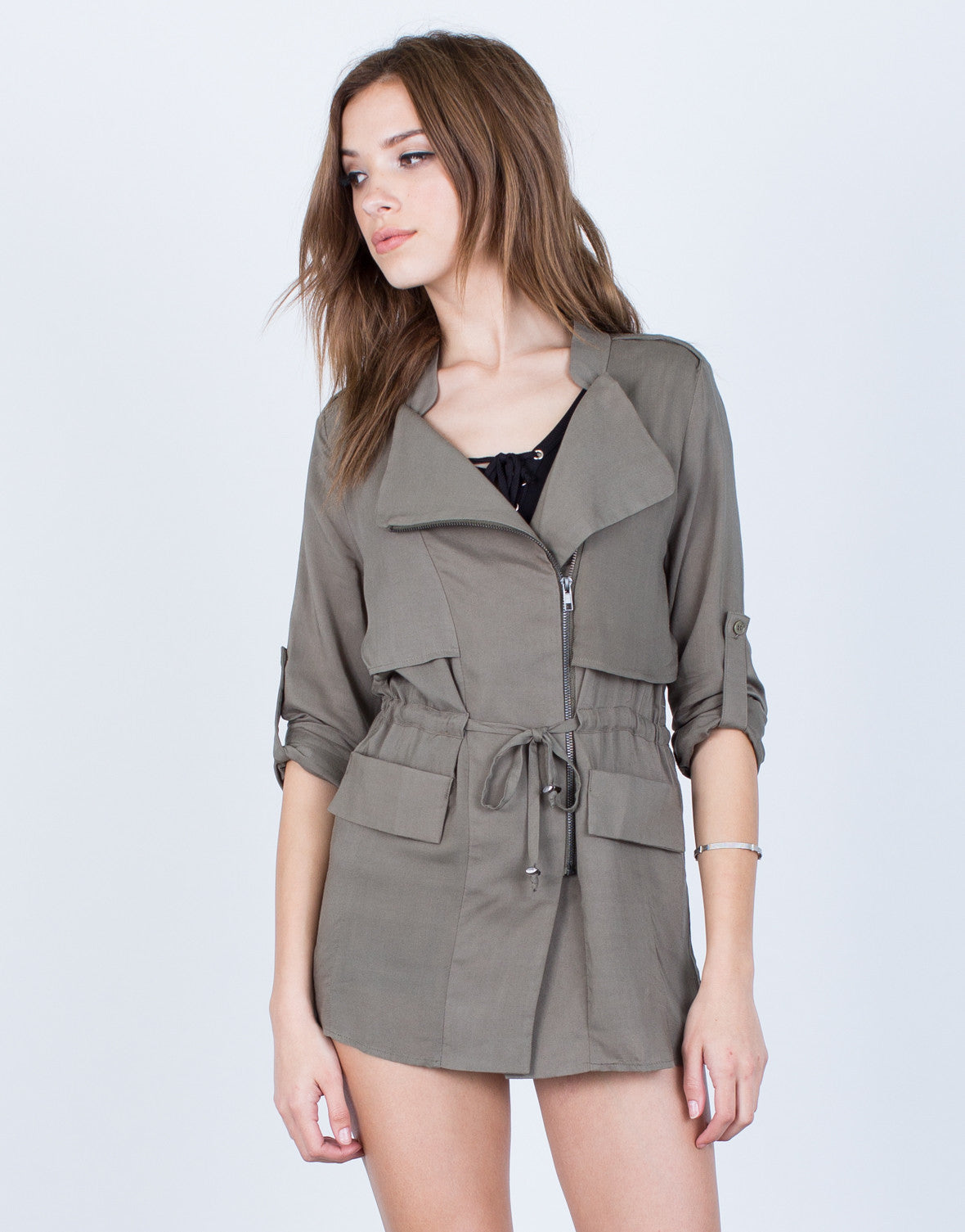 Soft Drawstring Jacket