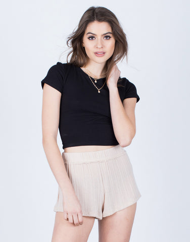 Detail of Soft Knit Shorts