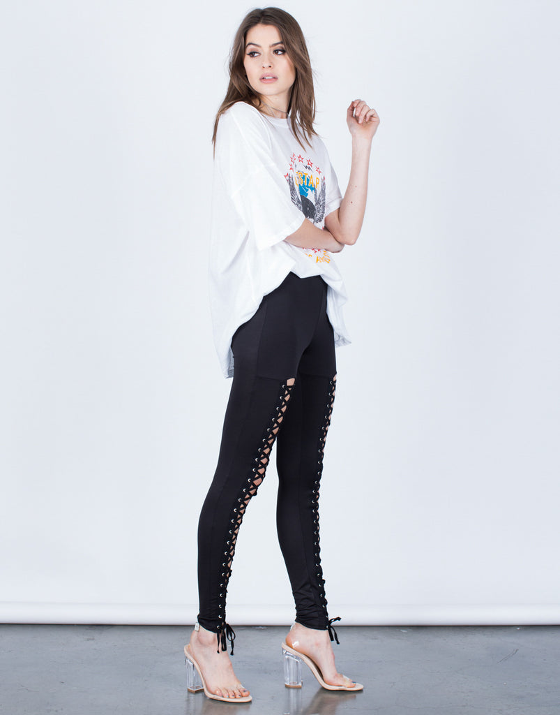 Soft Lace-Up Leggings - 2020AVE