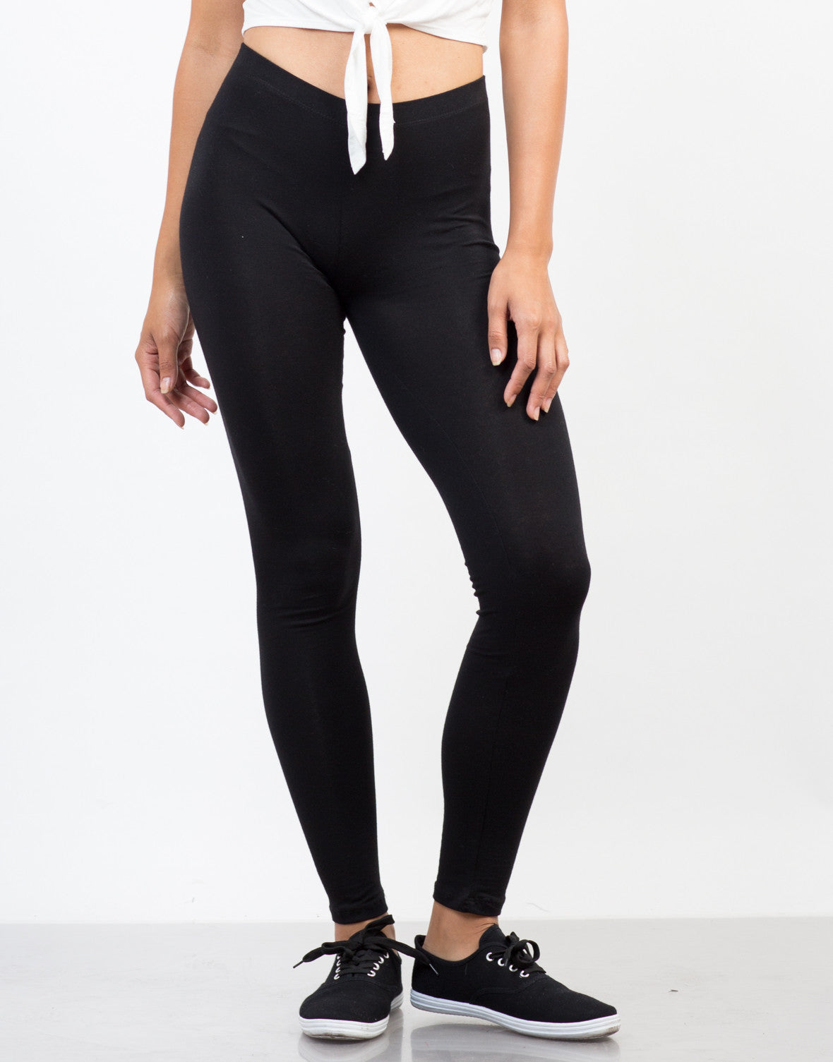 Front View of Soft Leggings