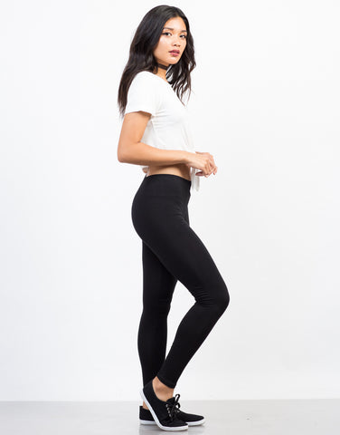 Side View of Soft Leggings