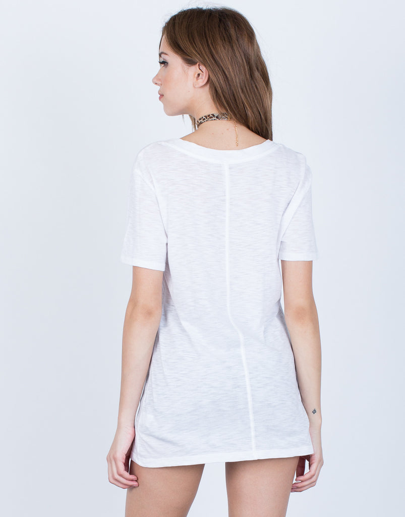 Back View of Soft Lightweight Tee