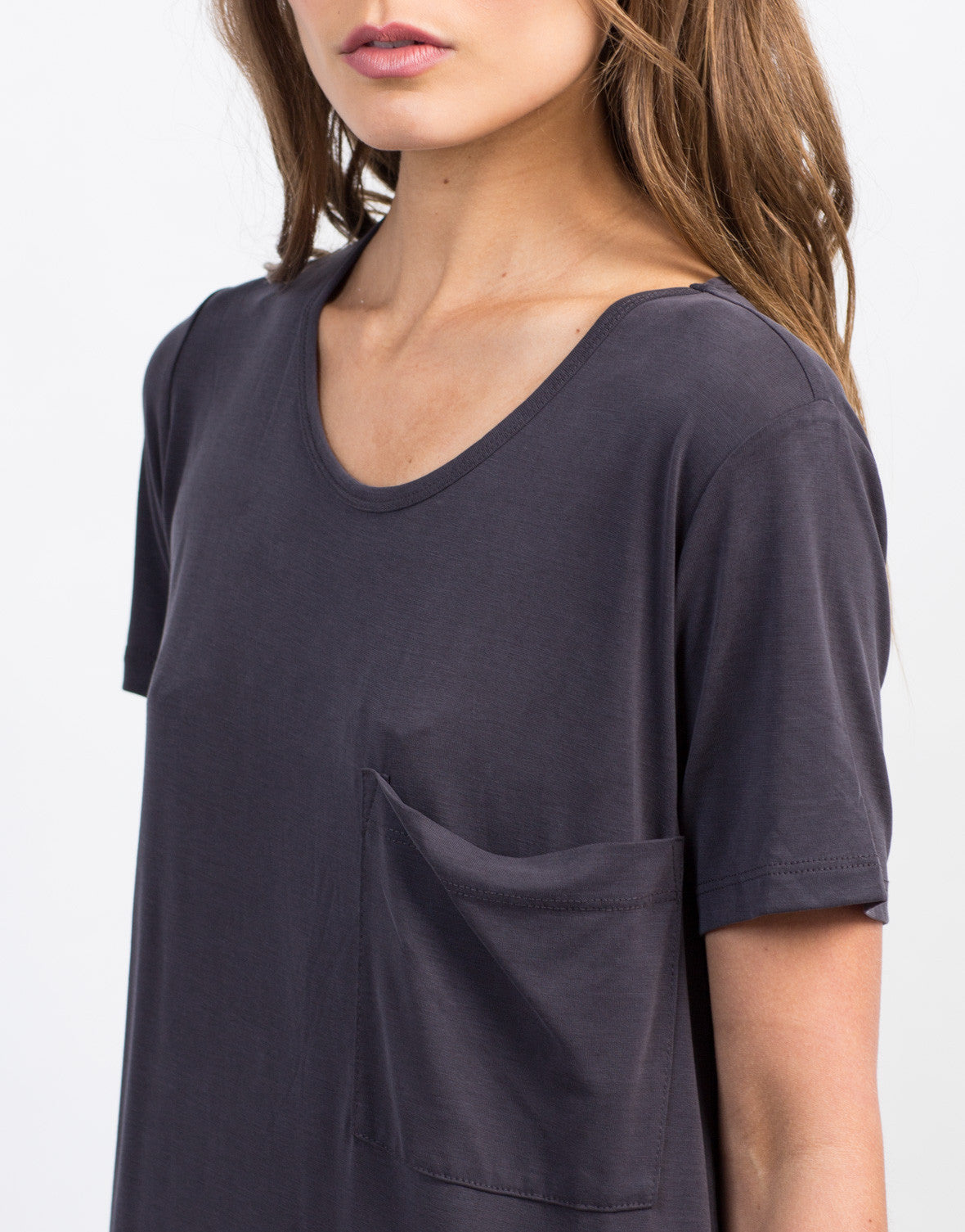 Detail of Soft Midi Tee Dress