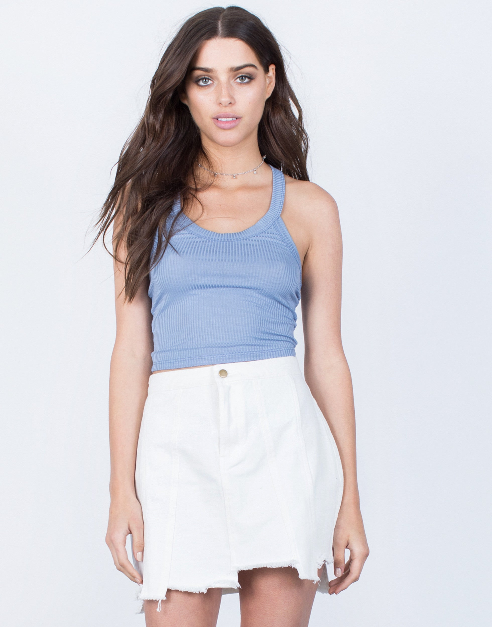 Front View of Soft Mini Crop Top