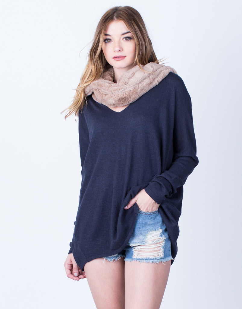 Soft Oversized Sweater Top - 2020AVE