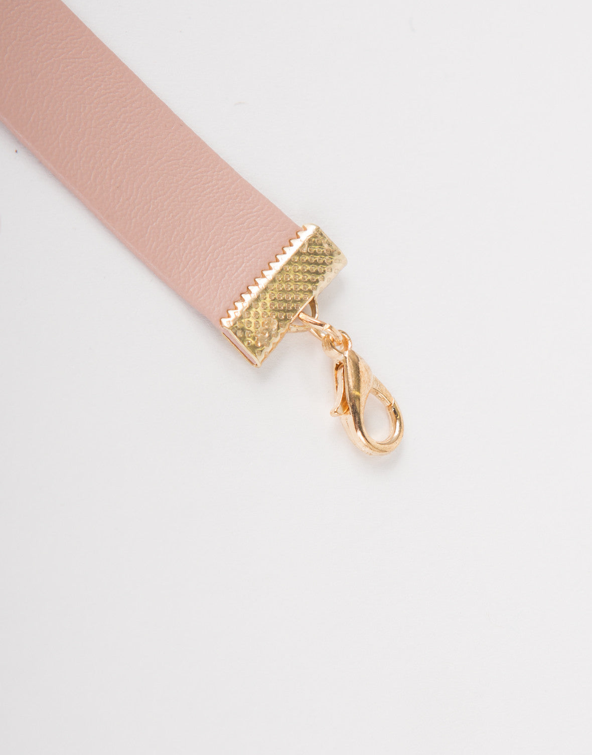 Soft Pink Leather Choker