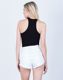 Back View of Soft Racerback Top