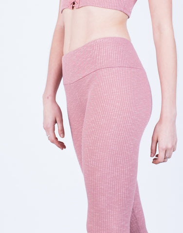 Detail of Soft Rib Knit Leggings