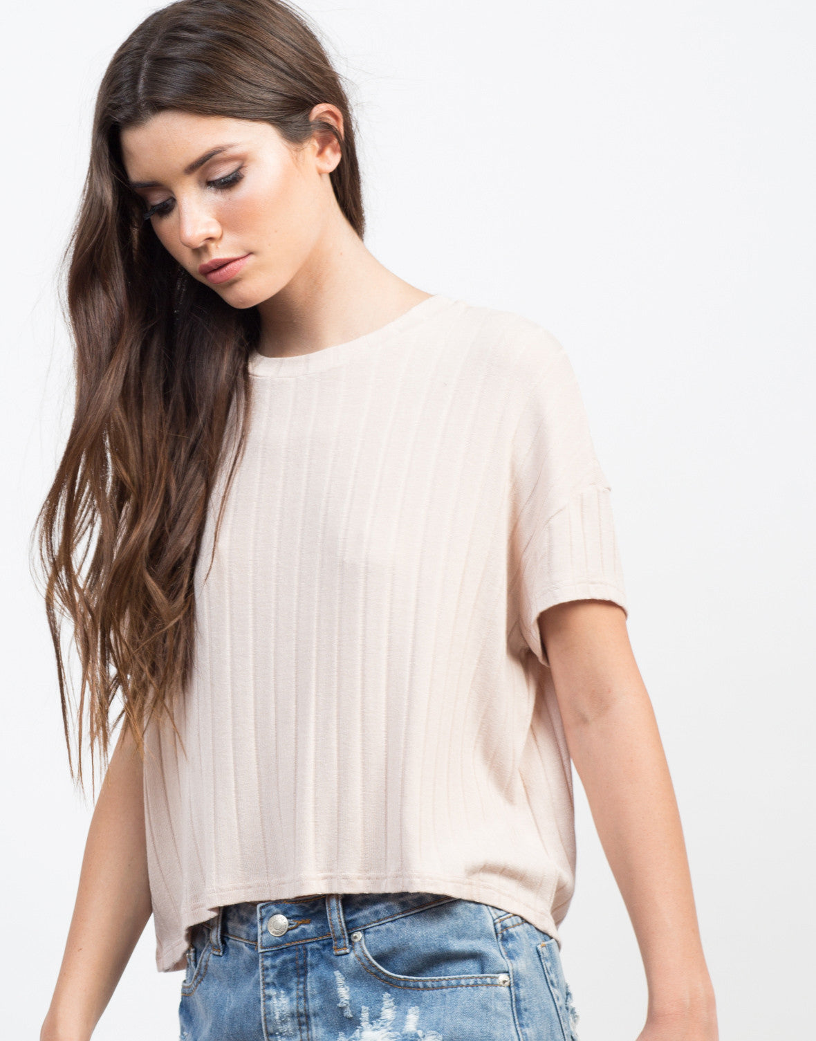 Detail of Soft Ribbed Tee