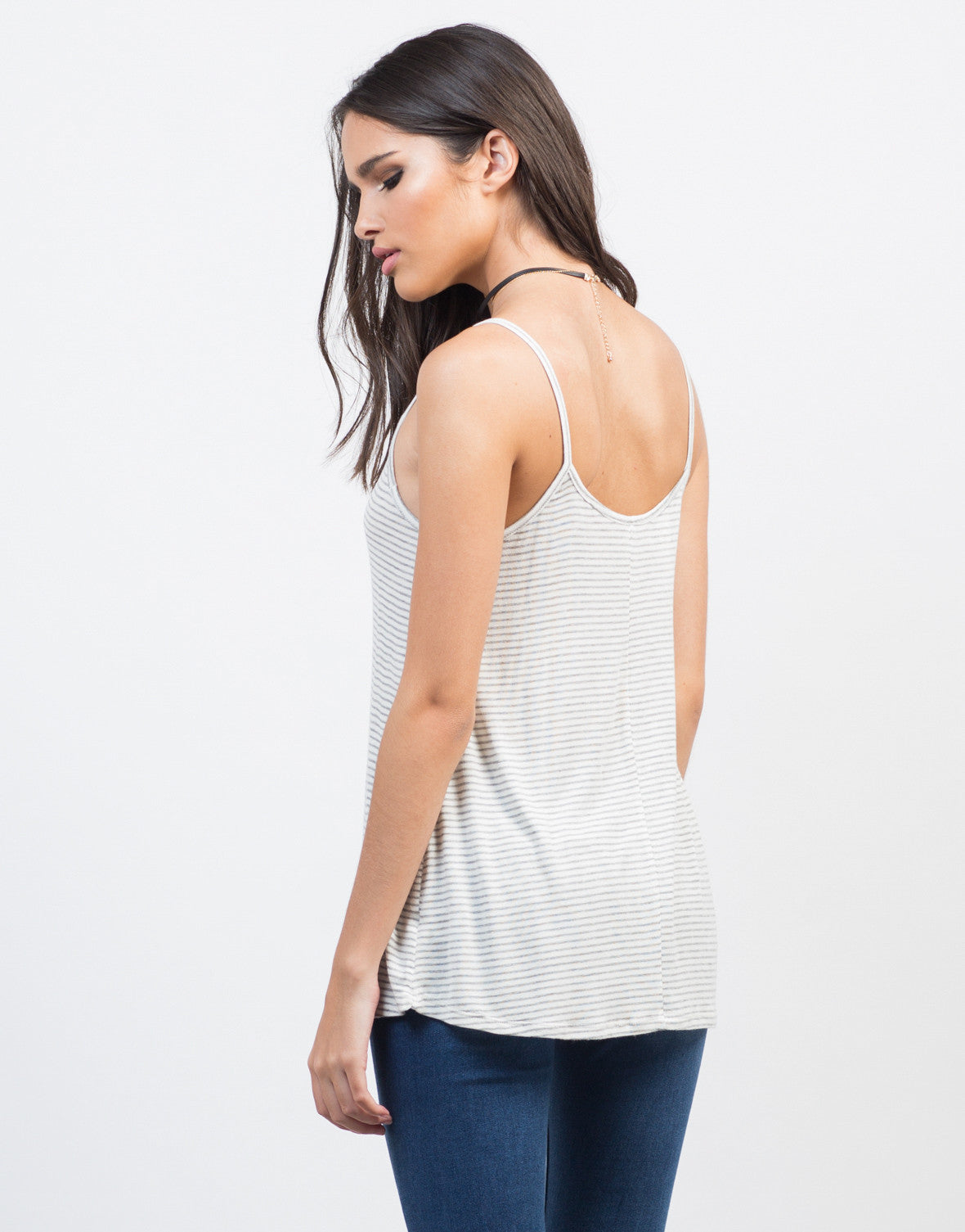 Back View of Soft Striped Cami
