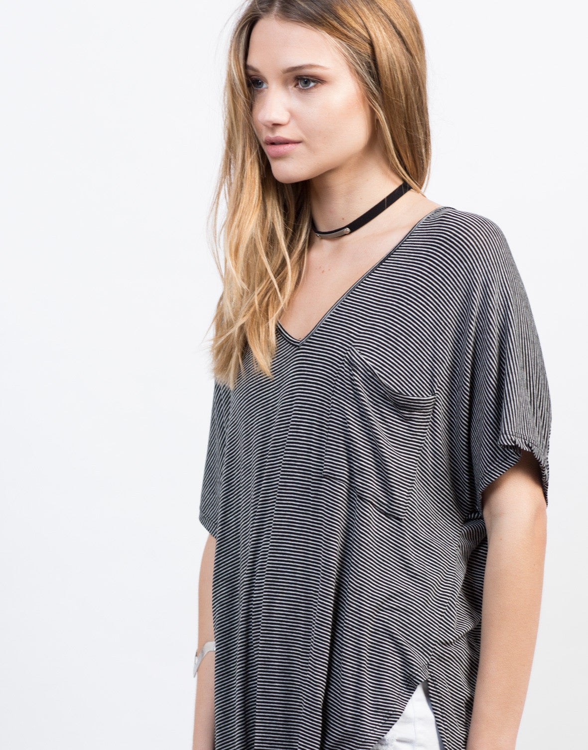 Soft Striped Pocket Tee - 2020AVE
