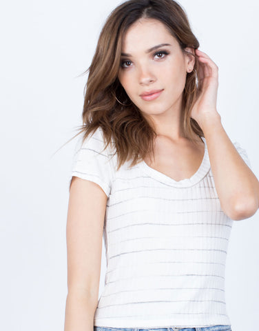 Detail of Soft Striped Tee