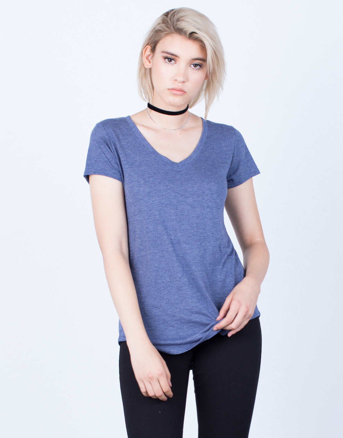 Soft V-Neck Tee - 2020AVE