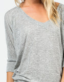 Detail of Soft 3/4 Dolman Sleeve Top