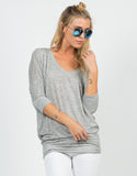 Front View of Soft 3/4 Dolman Sleeve Top