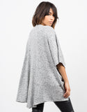 Back  View of Soft Dolman Cardigan