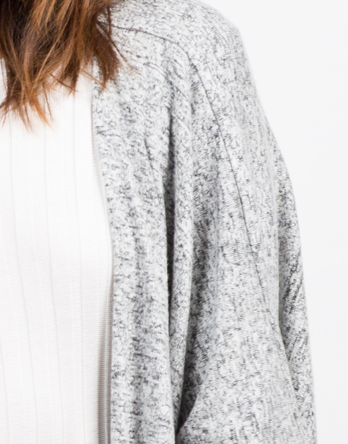 Detail of Soft Dolman Cardigan