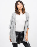 Front View of Soft Dolman Cardigan