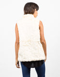 Back View of Soft Faux Fur Vest