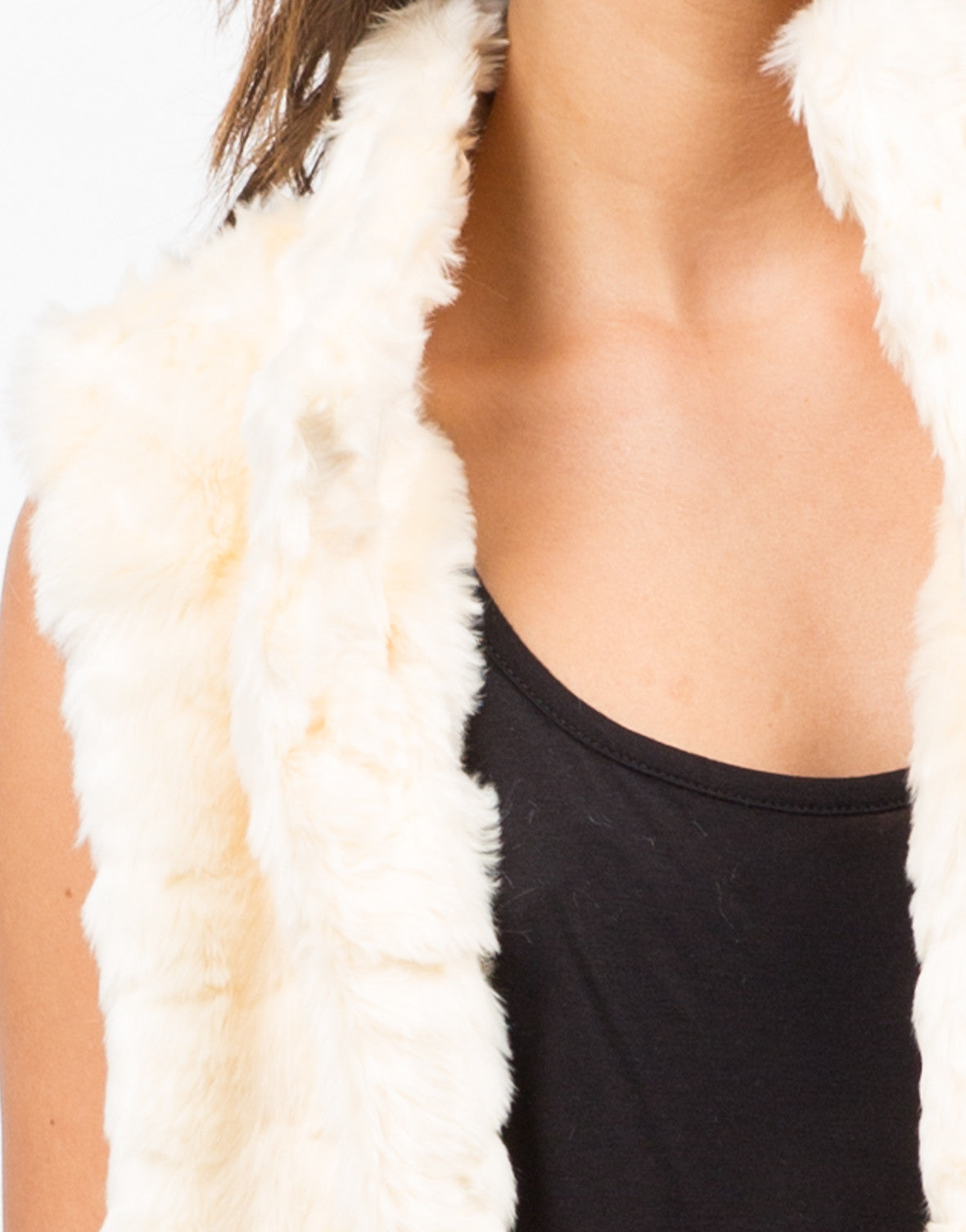 Detail of Soft Faux Fur Vest