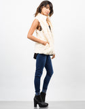 Side View of Soft Faux Fur Vest
