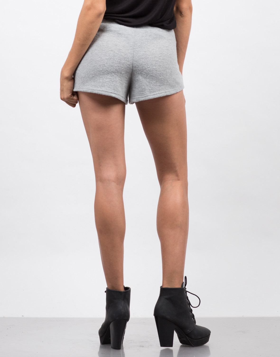 Back View of Soft Fleece Shorts