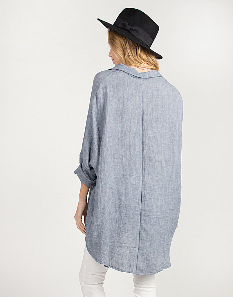 Soft Oversized Button Up Top - 2020AVE