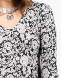 Detail of Soft Printed Flared Dress