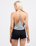 Back View of Soft Ribbed Crop Top