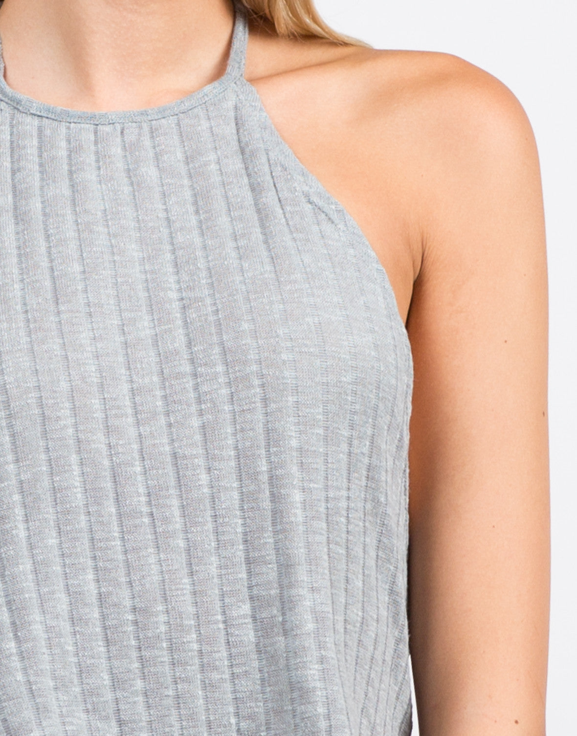 Detail of Soft Ribbed Crop Top