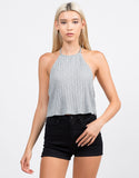 Front View of Soft Ribbed Crop Top