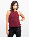 Front View of Soft Ribbed Swing Top