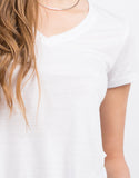 Detail of Soft V-Neck Tee