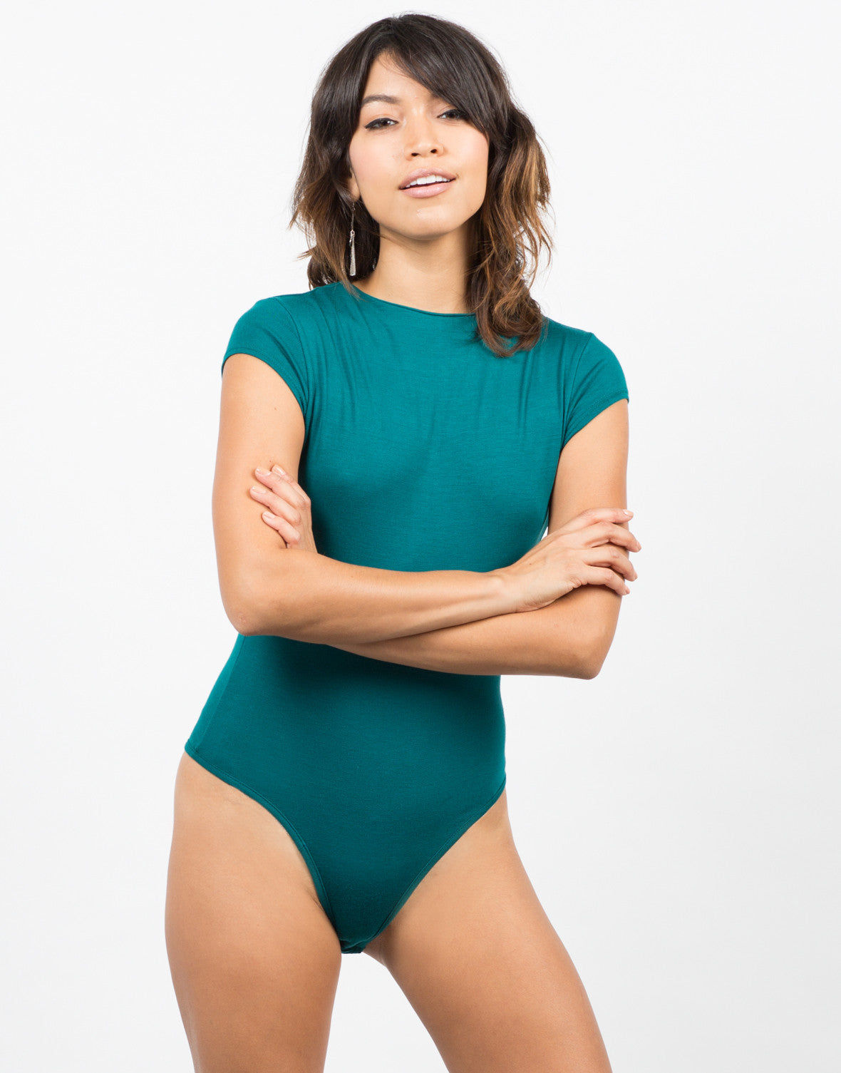 Solid Mock Neck Bodysuit - 2020AVE