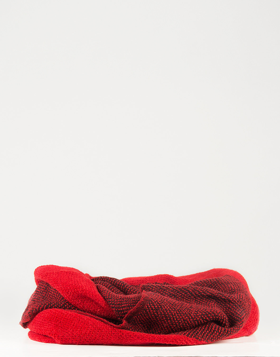 Solid Stripe Infinity Scarf - Red - 2020AVE