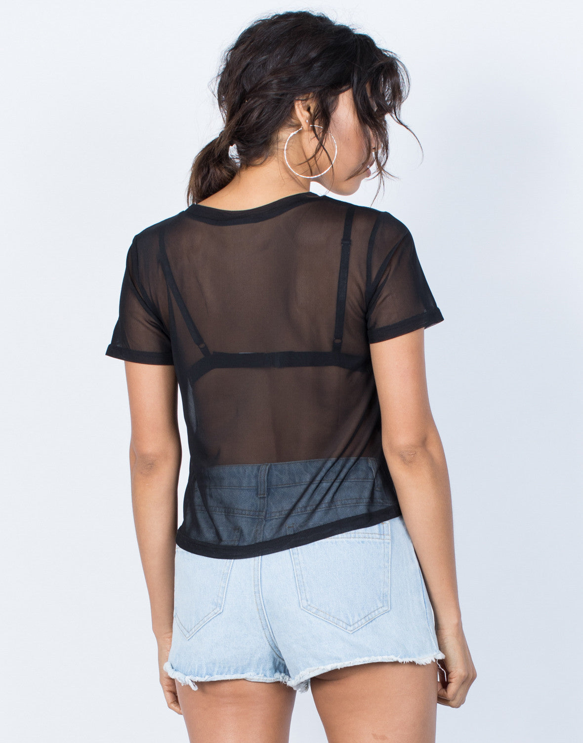 Black Solo Rosey Tee - Back View