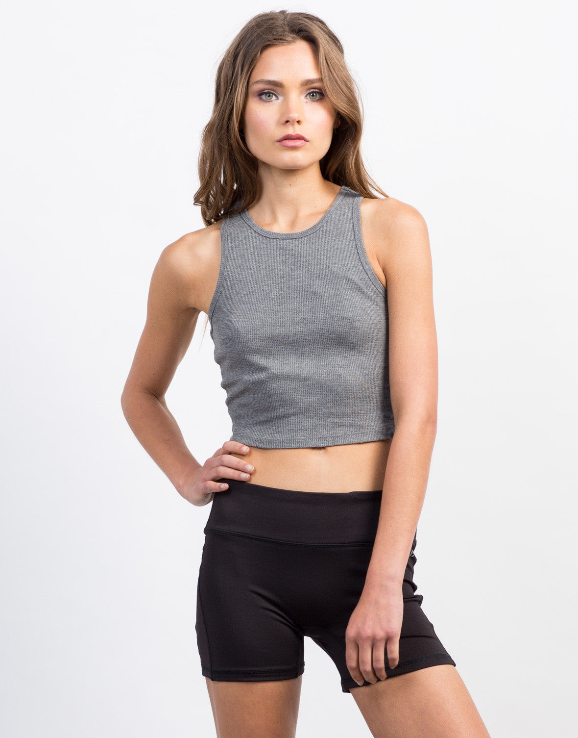 Front View of Spandex Activewear Shorts