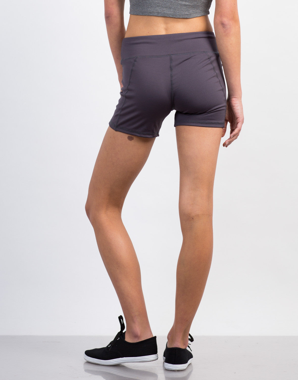 Back View of Spandex Activewear Shorts