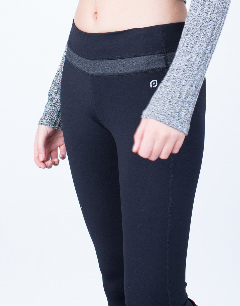 Detail of Spandex Stripe Activewear Leggings
