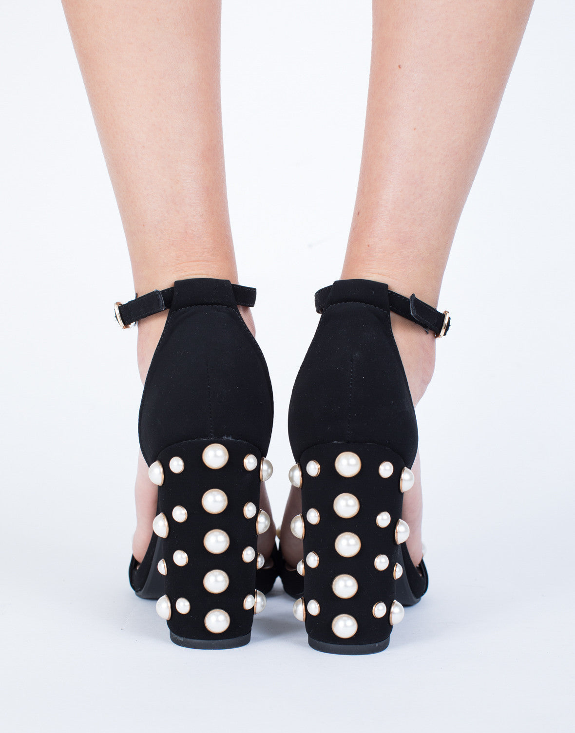 Sparkly Studded Pearl Heels - 2020AVE
