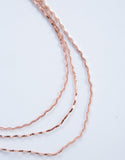 Rose Gold Sparkly Waves Choker - Detail