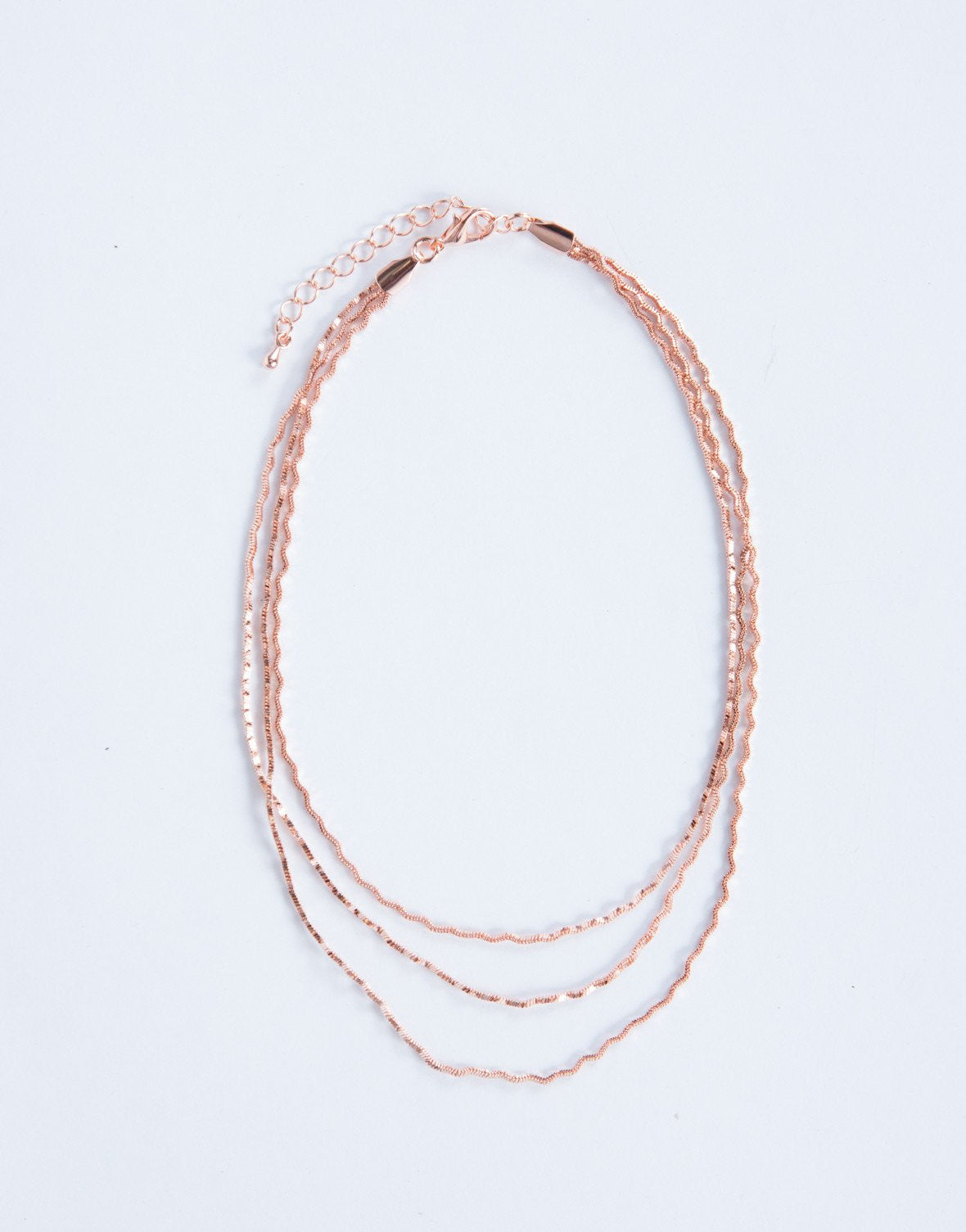 Rose Gold Sparkly Waves Choker - Front View