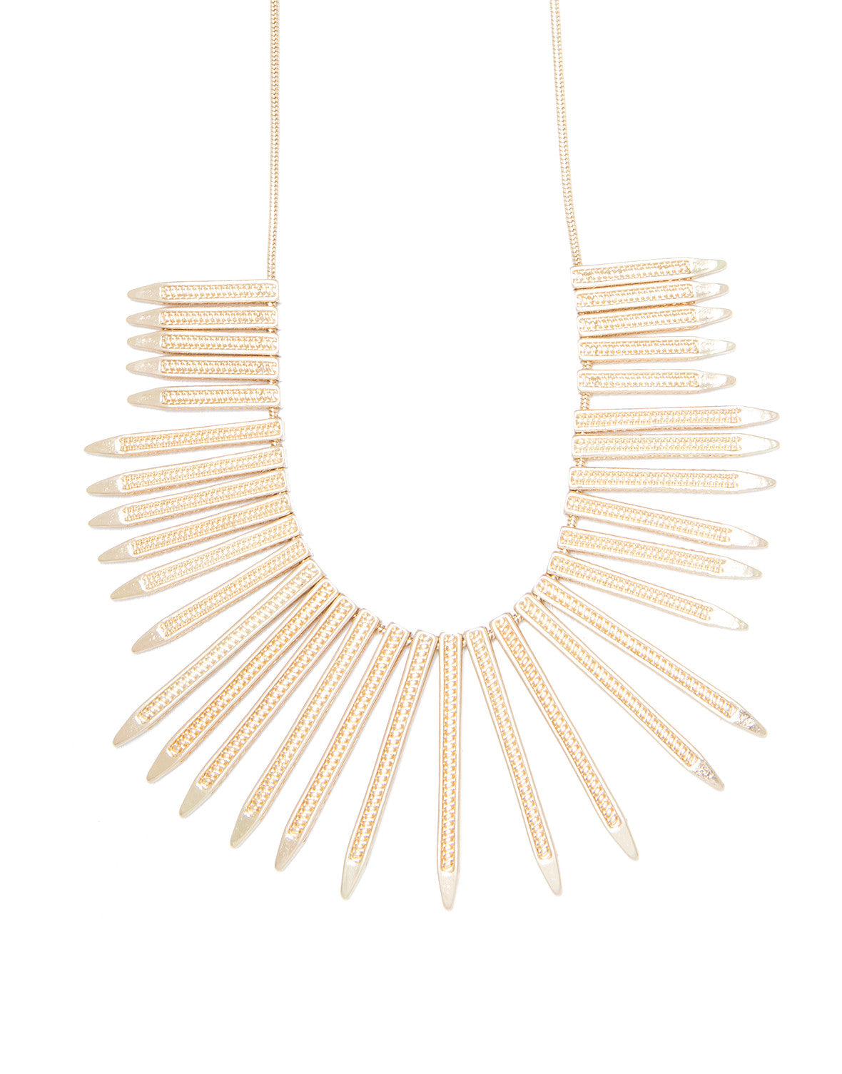 Spiked Fringe Collar Necklace