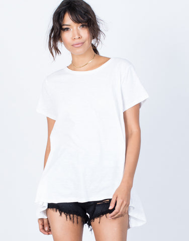 White Split Apart T-Shirt - Front View