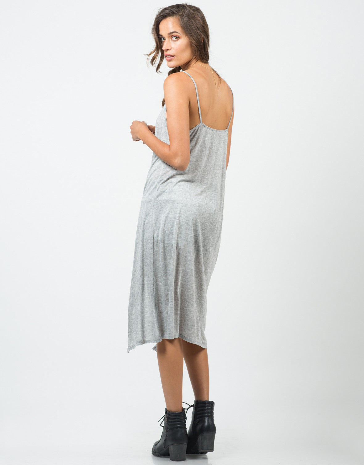 Back View of Split Up Long Cami