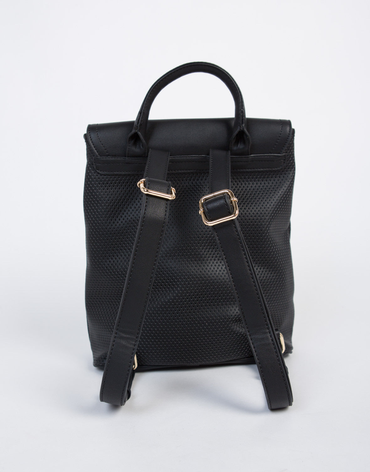 Sport Contrast Leather Backpack