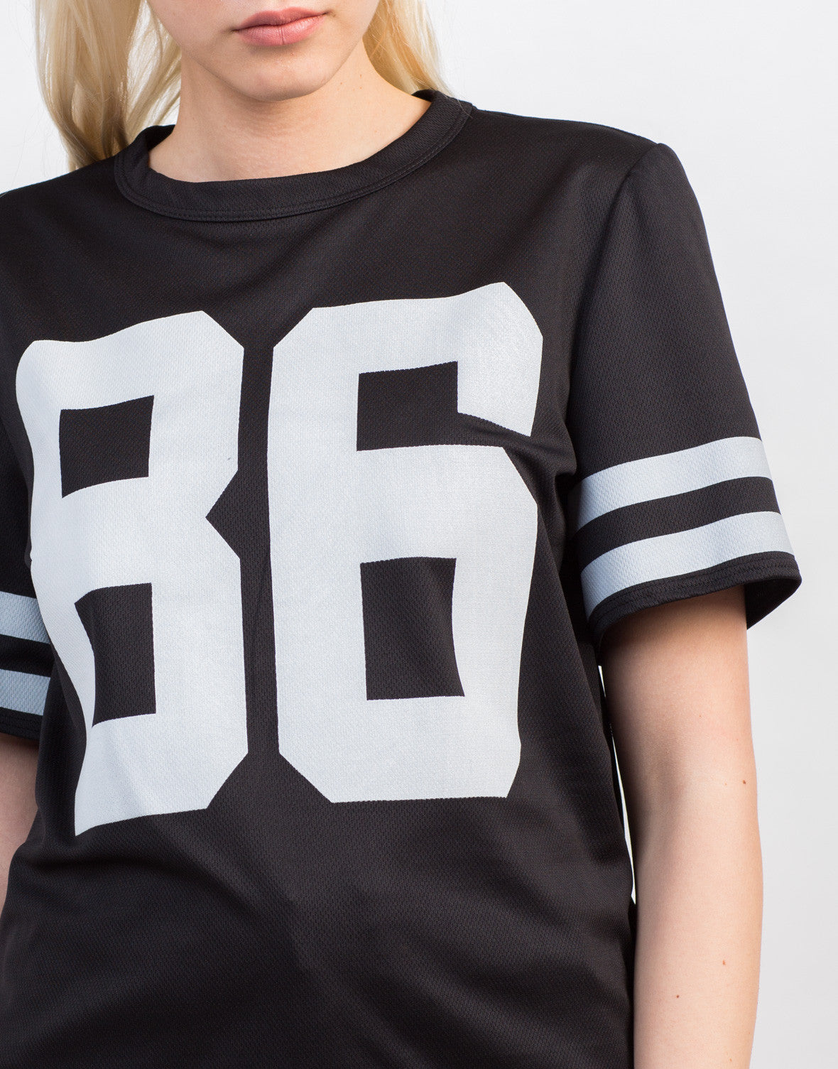 Detail of Sporty Hustle Jersey Tee