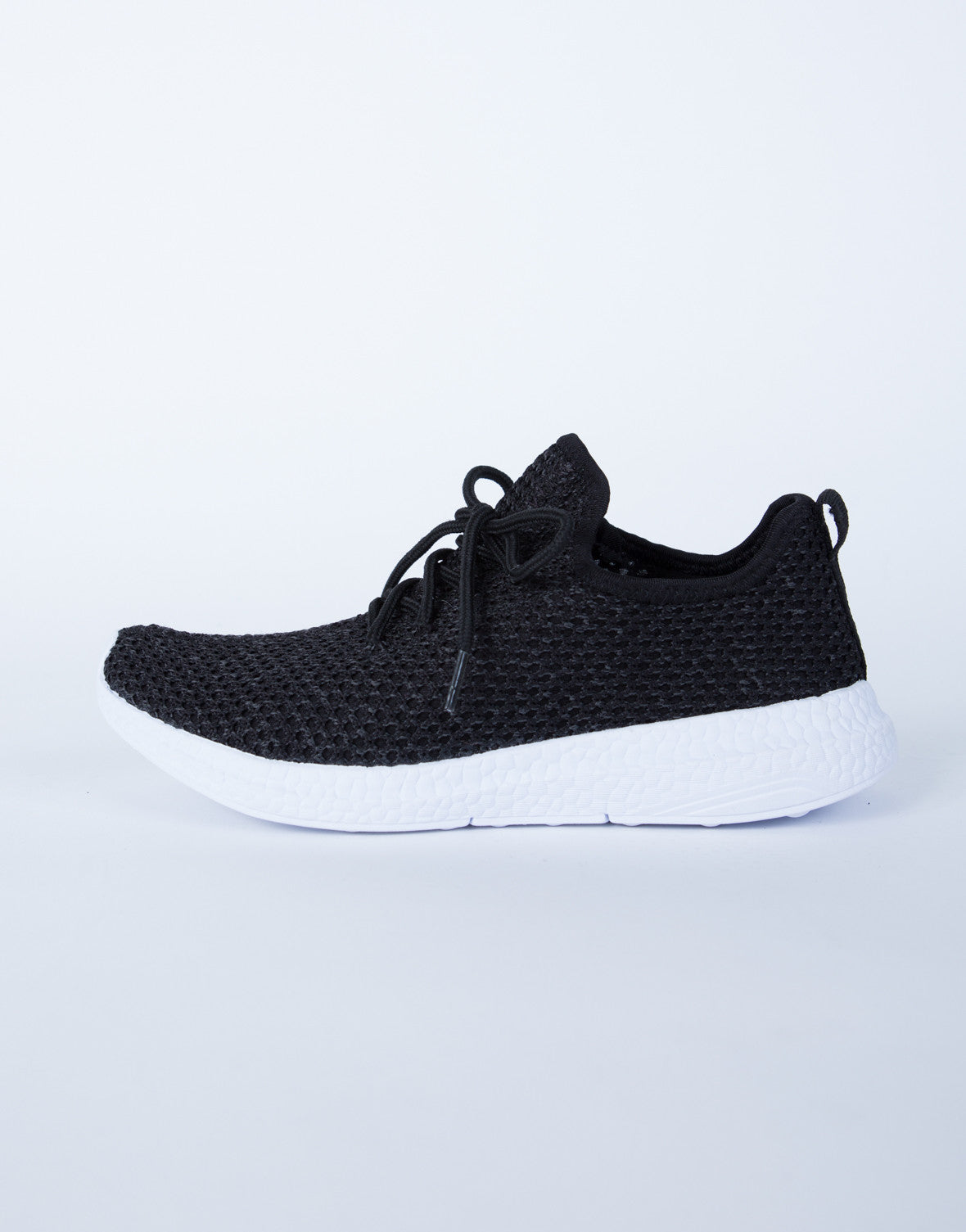 Sporty Knit Sneakers