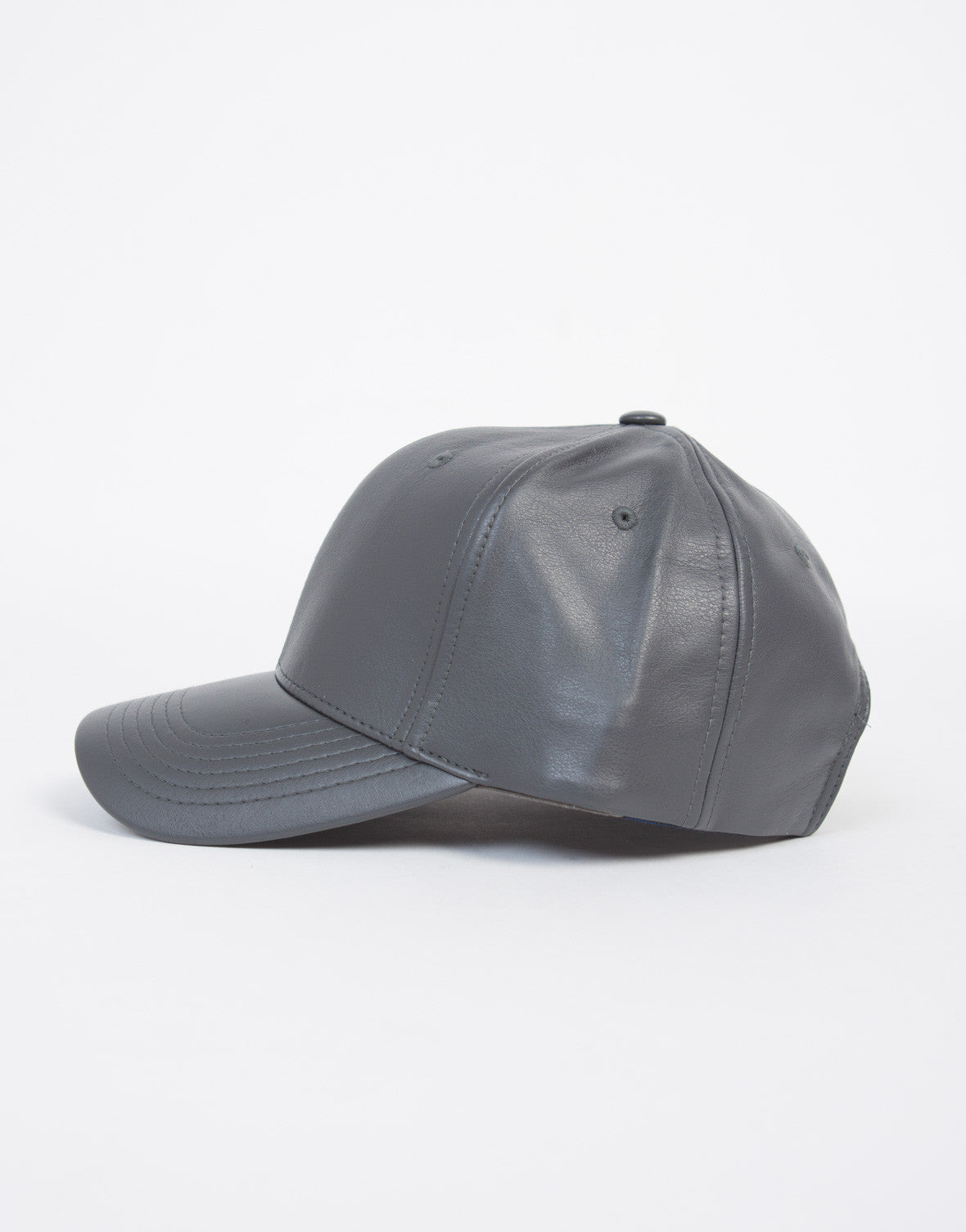 Sporty Leather Baseball Cap - 2020AVE
