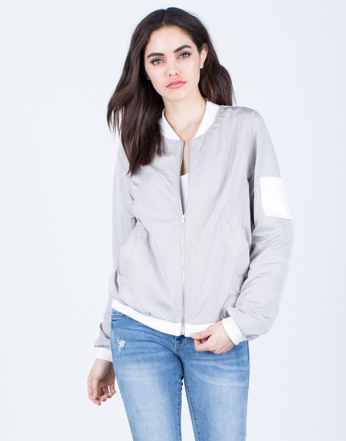Sporty Pocket Bomber Jacket